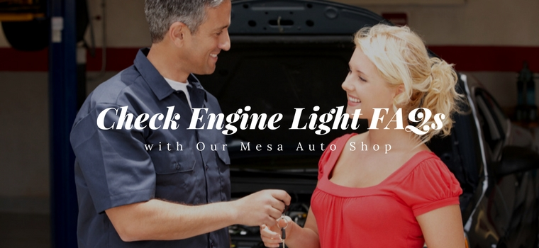 Check Engine Light FAQs with Our Mesa Auto Shop